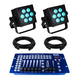 Blizzard HotBox RGBW LED Wash 2-Pack Lighting System