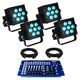 Blizzard HotBox RGBW LED Wash 4-Pack Lighting System