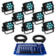 Blizzard HotBox RGBW LED Wash 8-Pack Lighting System