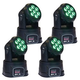 ColorKey Mover MiniWash QUAD-W 7 Moving Head Light 4-Pack