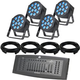 ADJ American DJ 12P HEX LED Wash 4-Pack Lighting System