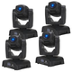 ADJ American DJ Pocket Pro 25-Watt LED Mini Moving Head 4-Pack