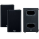 QSC K8.2 Powered Speakers (x2) & KS112 Powered Compact Subwoofer