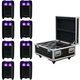 ADJ American DJ Element HEX Wireless LED Wash 8-Pack with Case