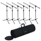 Gator ROK-IT Tripod Mic Stand 6-Pack with Bag