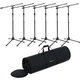 Gator GFW-MIC-2010 Mic Stand with Clutch 6 Pack & Bag