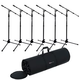 Gator GFW-MIC-2020 Premium Mic Stand 6 Pack with Bag