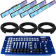 Blizzard Pixellicious RGB LED Light 4-Pack w/ DMX Controller