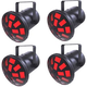 Chauvet Mushroom Plug-and-Play LED Light 4-Pack