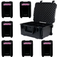 ADJ American DJ Element QA Wireless Wash Light 6-Pack w/ PC6 Case