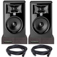 JBL 305P MKII Studio Monitor Pair w/ Isolation Pads & XLR Cables