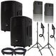 RCF HD12-A MK4 Powered Speakers w/ Ultimate Stands