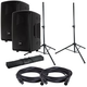 RCF HD10-A MK4 Powered Speakers w/ Gator Stands