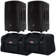 RCF HD10-A MK4 Powered Speakers w/ Gator Totes
