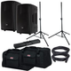 RCF HD10-A MK4 Powered Speakers w/ Totes & Stands