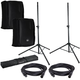 RCF HD12-A MK4 Powered speakers w/ Covers & Stands