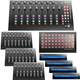Icon Platform M+ Desktop DAW with 3 Control Surface Extenders, Button Extender & 4 Displays
