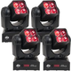ADJ American DJ Inno Pocket Z4 4x10w RGBW Moving Head Light 4-Pack