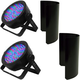 Chauvet DJ EZpar 56 RGB LED Light 2-Pack w/ Shields