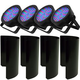 Chauvet DJ EZpar 56 RGB LED Light 4-Pack w/ Shields