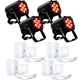 ADJ American DJ MOD HEX100 RGBAW+UV LED Light x4 w/ Pearl White Kits