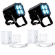 ADJ American DJ MOD QA60 RGBA LED Par Can 2-Pack w/ Pearl White Kits