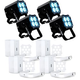 ADJ American DJ MOD QA60 RGBA LED Par Can 4-Pack w/ Pearl White Kits