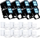 ADJ American DJ MOD QA60 RGBA LED Par Can 8-Pack w/ Pearl White Kits