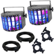 Chauvet Kinta FX Light 2-Pack w/ O-Clamps & Cables