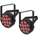 Chauvet SlimPAR T12 BT LED Bluetooth Wireless Wash Light 2-Pack