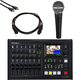 Roland VR4-HD All-in-One Video Mixer w/ SM58 Mic & Cables