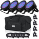 Chauvet EZpar 56 RGB Wash Light 4-Pack w/ Gator Bag & Accessories