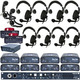 Clear-Com Intercom System Wired Plus Bundle w/ 8 Headsets