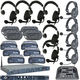 Clear-Com Intercom System Combo Wired Plus Wireless Bundle w/ 10 Headsets