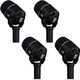 Electro-Voice ND46 Supercardioid Dynamic Instrument and Drum Mic 4-Pack