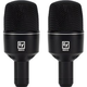Electro-Voice ND68 Supercardioid Kick Drum Mic 2-Pack
