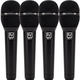 Electro-Voice ND76 Cardioid Dynamic Vocal Mic 4-Pack