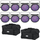Chauvet EZpar 64 RGBA BLK Wash Light 8-Pack w/ Gator Bag