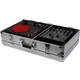 Odyssey KPT01SCSIL Numark PT01 Turntable Case with Side Compartment Silver