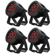 ADJ American DJ 7P Hex IP RGBAW+UV IP65 Rated LED Par 4-Pack