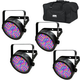 Chauvet SlimPAR 56 RGB LED Wash Light 4-Pack w/ Gator Bag