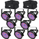 Chauvet SlimPAR 56 RGB LED Wash Light 8-Pack w/ Gator Bags
