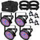 Chauvet SlimPAR 56 RGB Wash Light 4-Pack w/ Accessories & Gator Bag