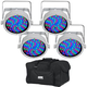 Chauvet SlimPAR 56 WHT RGB LED Light 4-Pack w/ Gator Bag