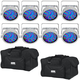 Chauvet SlimPAR 56 WHT RGB LED Light 8-Pack w/ Gator Bags