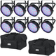 Chauvet SlimPAR 64 RGB LED Wash Light 8-Pack w/ Gator Bags