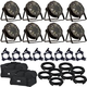 Eliminator Trio Par LED Light 8-Pack w/ Accessories & Gator Bags
