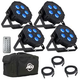 ADJ American DJ Mega Flat Hex Pak Par Lighting Kit w/ Bag