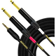 Mogami GOLD 3.5 2 TS 03 1/8 TRS to Dual 1/4 TS Cable