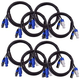 Blizzard 6Ft PowerCon 3-Pin DMX Combo Cable 8-Pack